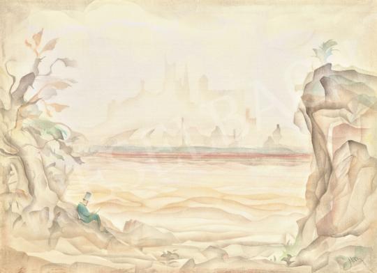 Harmos Károly - Vándor a folyóparton | 62. Őszi Aukció aukció / 48 tétel