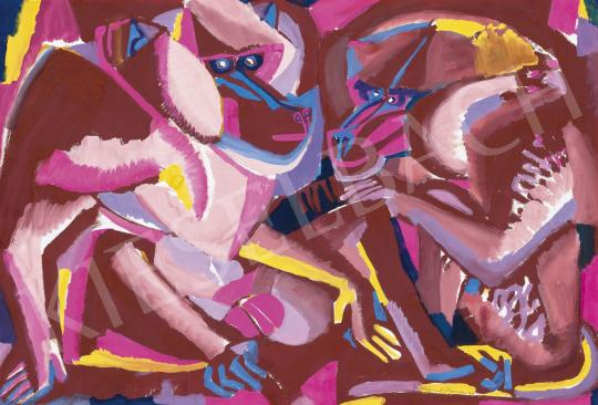 Hajnal János - Majmok, 1961 | 62. Őszi Aukció aukció / 69 tétel