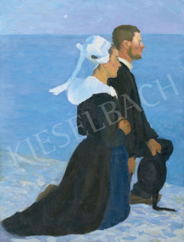 Kunffy, Lajos - Bretagne Sea Shore, c. 1898