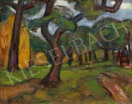 Czóbel Béla - Kertben (Táj fákkal), 1920-as évek vége