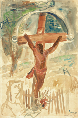 Ámos, Imre - Flying Above Crucifix (Crucifix Izbég), 1940