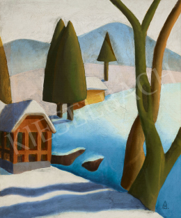 Pittner Olivér - Téli táj, 1931 körül
