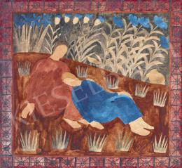 Ferenczy Noémi - A pihenő (Természetben)