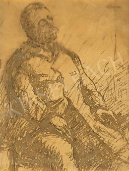 Rippl-Rónai József - Rippl-Rónai Ödön portréja, 1890-es évek
