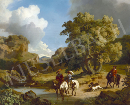 Markó, András - Italian Landscape with Riders (Hunting), 1855