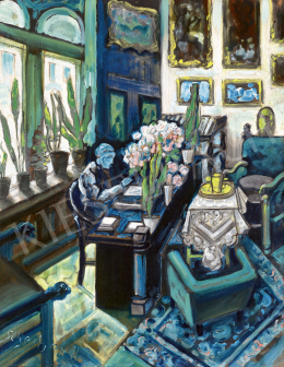 Scheiber, Hugó - In Blue Room, c. 1940