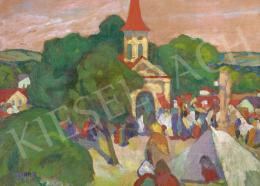 Kádár Béla - Vasárnapi piac, 1910-es évek
