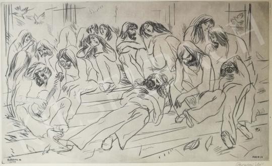 Eladó  Borsos Miklós - Fiatalok Firenzében festménye