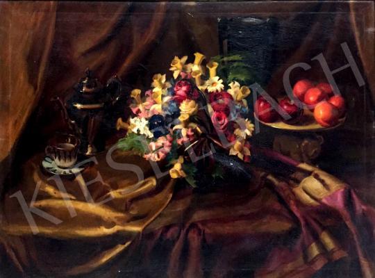 For sale  Tunyogi Szűcs, Sándor - Still life on gold tablecloth 's painting