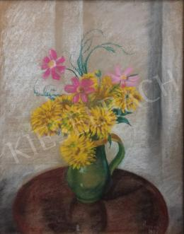 Unknown painter - Field flower still life