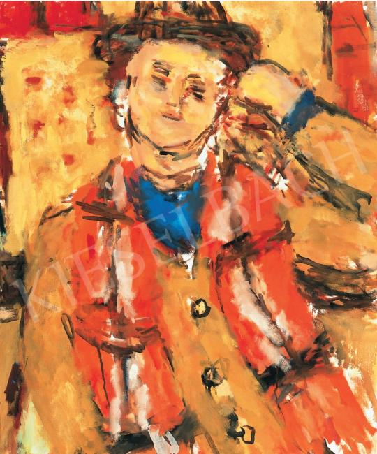 For sale  Czóbel, Béla - Man leaning on his elbow, 1976 's painting