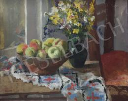 Dienes, István - Table still life with apples