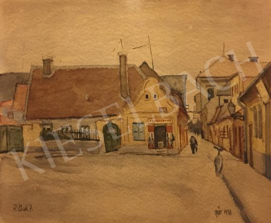 Eladó P. Bak János - Győri utca festménye