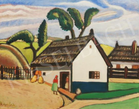 Eladó  Nyergesi István - Tanya udvar festménye