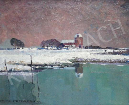 For sale  Fritz Petersen - Church by the lake 's painting