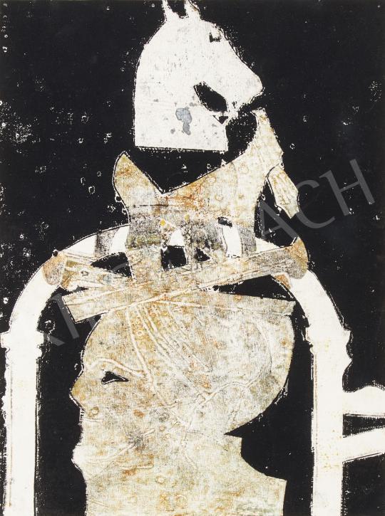 Eladó  Bálint Endre - Lovacska kapu és fej, 1983 festménye