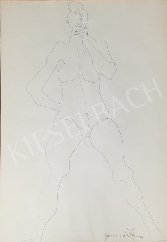 Eladó  Hajnal János - Női akt tanulmány festménye