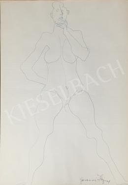 Hajnal, János - Female nude study