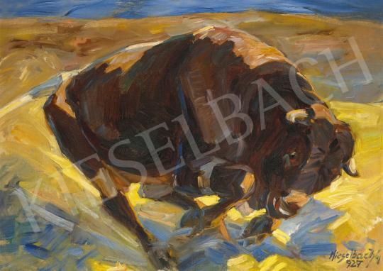 Eladó  Kieselbach Géza - Bika, 1927 festménye