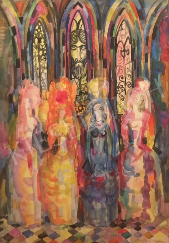 Eladó  Szabó Vladimir - Templomban, 1927 festménye