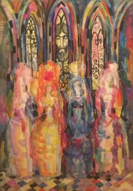 Szabó, Vladimir - in the church, 1927