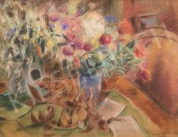 Vörös, Géza - Still life with flowers