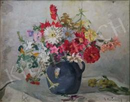 K. Madarász, Adeline - Still life with flowers