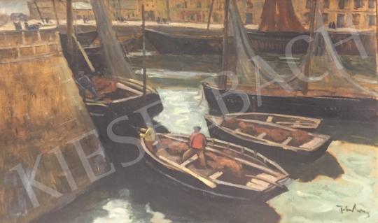 Eladó Tibor Ernő - Kikötő festménye