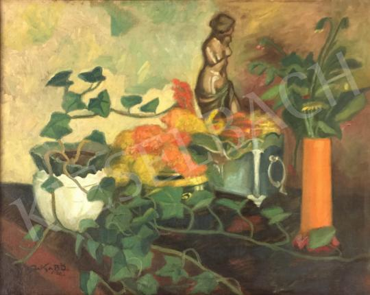 For sale Jakab, Ödön - Still life with statue, 1912 's painting