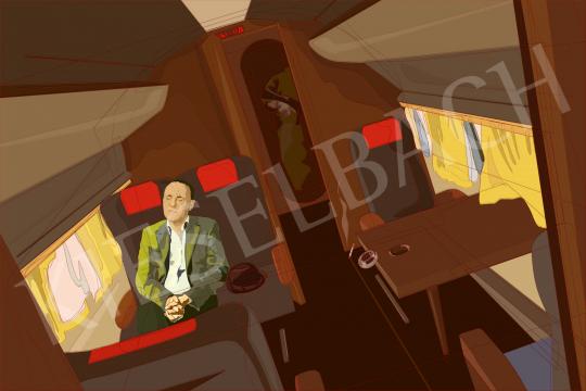 Eladó  Weiler Péter - Turbulencia Moszkva felé (1956.11.01) festménye