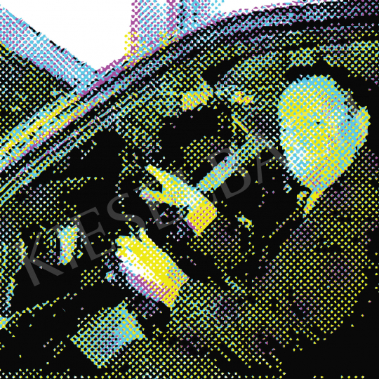 Eladó  Weiler Péter - Grósz Károly átveszi a BMW-jét - Tisztelet Gerhard Richternek festménye