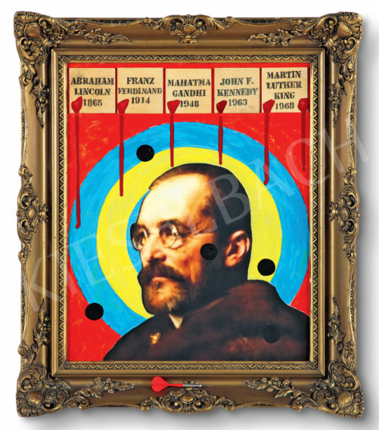 Eladó  drMáriás - Tisza István Jasper Johns műtermében festménye