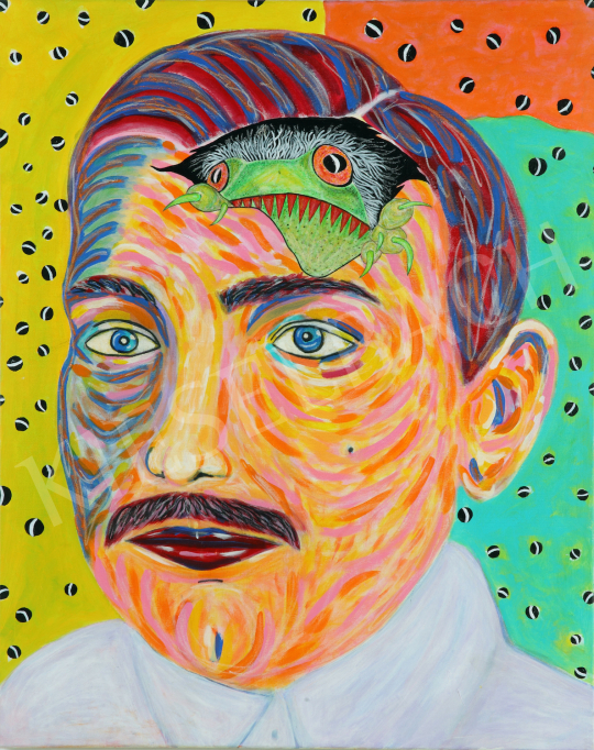 For sale  drMáriás - The Frog pops out of Géza Csáth's head in Derain's studio 's painting