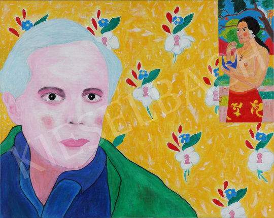 For sale  drMáriás - Béla Bartók is thinking about the Blue Beard in Gauguin's studio 's painting
