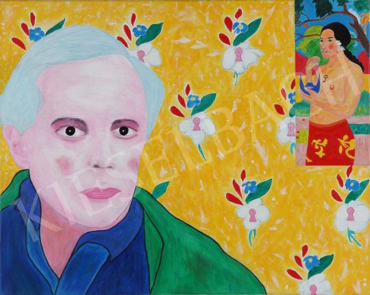 Eladó  drMáriás - Bartók Béla a Kékszakállún gondolkodik Gauguin műtermében festménye
