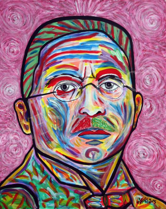 Eladó  drMáriás - Trebitsch Ignác Vlaminck műtermében festménye