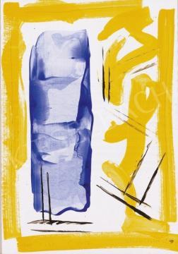 Nádler István - Sárga kék kompozíció | 13. Aukció aukció / 103 tétel