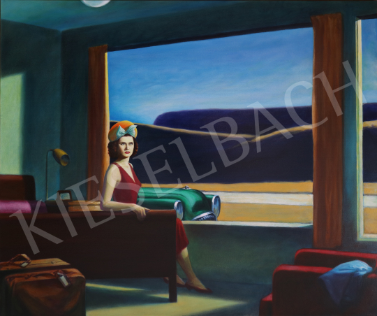 For sale  drMáriás - Katalin Karády in Edward Hopper's studio 's painting
