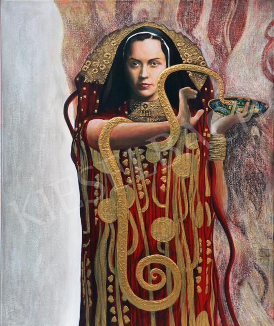 drMáriás -  Ilona Edelsheim Gyulai in the studio of Gustav Klimt painting