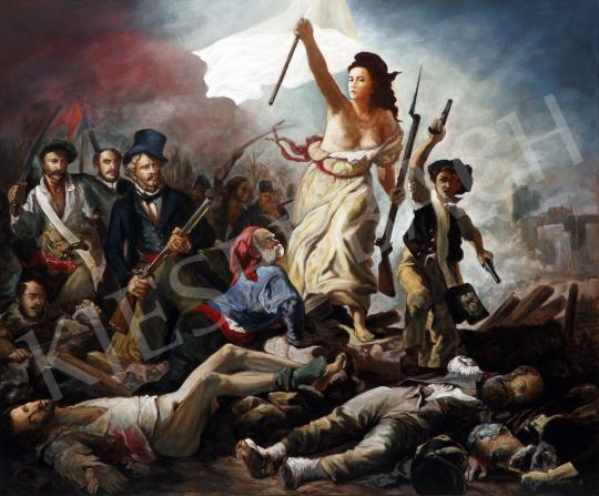 drMáriás - Beauty leads the people in Delacroix's studio painting
