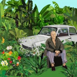 Péter Weiler - Kádár János a kertjében a letartóztatását várja (1989)