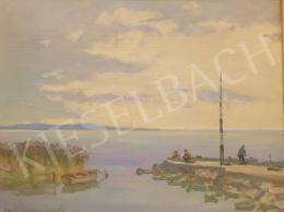 Csáki-Maronyák József - Balatoni horgászok (Fonyódi kikötő)