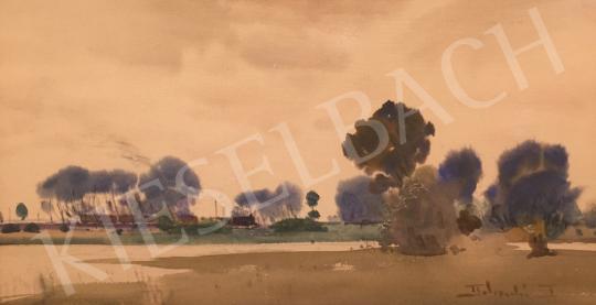 Eladó Dobroszláv Lajos - Vonat a tájban festménye