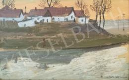 Czene Béla - Falusi látkép / Alkony a Zagyván, 1958