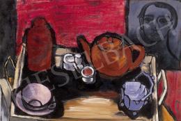 Gadányi Jenő - Asztali csendélet önarcképpel