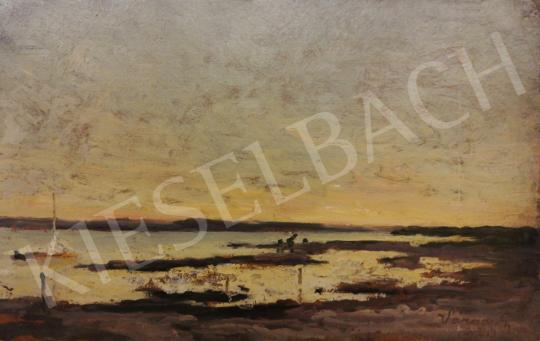 For sale Várady, Gyula - Sunset on the lakeshore 's painting