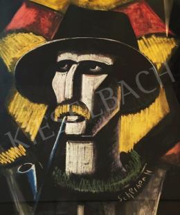 Scheiber Hugó - Pipázó férfi