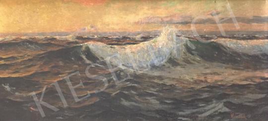 Eladó  Mendlik Oszkár - Viharos tenger festménye