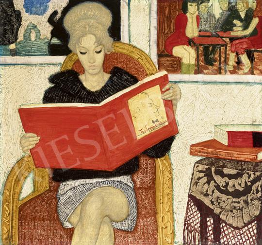 Czene Béla - Toulouse Lautrec / Könyvet olvasó lány, 1970 | 63. Téli Aukció aukció / 4 tétel
