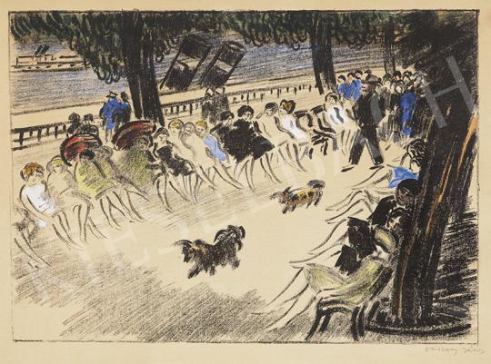 Vaszary János - Dunakorzó, 1935 körül | 63. Téli Aukció aukció / 8 tétel